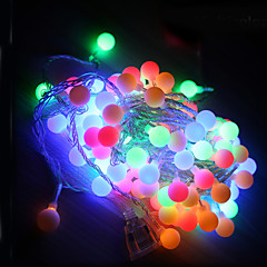 10m led string valot 100led pallo AC220V loma sisustus lamppu festivaali jouluvalot ulkovalaistus