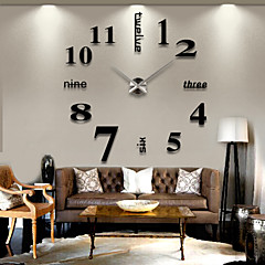 3D Crystal Acrylic Mirror Clocks wall Stickers Creative