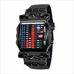 Αντρικά Γυναικεία Για Ζευγάρια Μοδάτο Ρολόι Ψηφιακό LED καουτσούκ Μπάντα Μαύρο Μαύρο/Κόκκινο