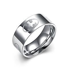 lureme® Stainless Steel 0.8mm Wide Batman Symbol Ring
