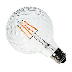 4W E26/E27 LED-hehkulamput G60 4 COB 400 lm Lämmin valkoinen Koristeltu AC 220-240 V 1 kpl