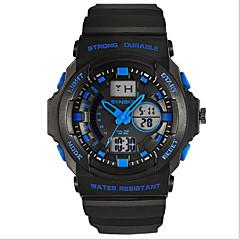 SYNOKE Herren Sportuhr Armbanduhr Digitaluhr Quartz digital Japanischer QuartzLCD Kalender Chronograph Wasserdicht Duale Zeitzonen Alarm