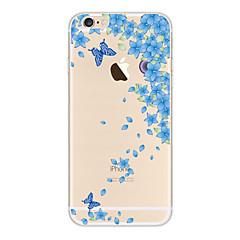 Käyttötarkoitus kotelot kuoret Läpinäkyvä Kuvio Takakuori Etui Perhonen Pehmeä TPU varten AppleiPhone 6s Plus iPhone 6 Plus iPhone 6s