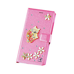 Varten Samsung Galaxy Note Korttikotelo / Paljetti / Tuella / Flip Etui Kokonaan peittävä Etui 3D piirros Kova MetalliNote 5 / Note 4 /