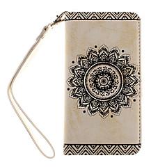 motif de fleurs pu étui en cuir avec fente pour carte et support pour Samsung s5 / S6 / S6 bord / s7 / s7 bord