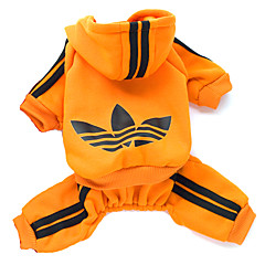 katten / honden Hoodies Rood / Zwart / Roze / Oranje Winter / Lente/Herfst Sport Modieus, Dog Clothes / Dog Clothing-Lovoyager