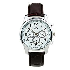 Men's Fashion Casual Three Six-pin Decoration Belt Quartz Watch Wrist Watch Cool Watch Unique Watch