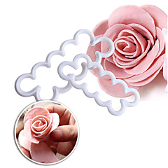 Food Grade Plastic Rose Flower Petal Mold Fondant Chocolate DIY Cutter Mould For Decorating White Cake Tool  NO.205