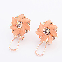 Earring Clip Earrings Jewelry Women Wedding / Party / Daily Alloy / Opal 1 pair Orange