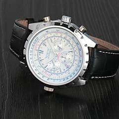 Masculino Relógio de Pulso relógio mecânico Automático - da corda automáticamente Calendário Couro Banda Luxuoso Preta Branco Azul Escuro