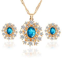 Smycken-Dekorativa Halsband / Örhängen(Kristall / Legering / Bergkristall)Bröllop / Party / Dagligen / Casual Wedding gåvor