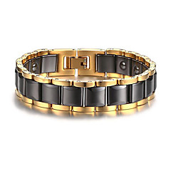 Magnetic Therapy Bracelet Men's Luxury Jewelry Health Care Gold Stainless Steel Bracelet