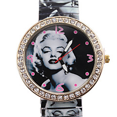السيدات ساعات فاشن كوارتز ساعة كاجوال أشابة فرقة أسود Brand-