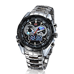 Men's Multifunctional Two Time Zones Calendar Luxury 50M Water Resistant Sports Fashion Wrist Watches(Assorted Colors) Cool Watch Unique Watch