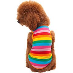 Gatos / Perros Camiseta Arco iris Verano / Primavera/Otoño Rayas Moda