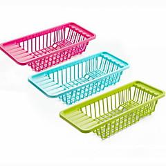 organización plástica plato estante de cocina (color al azar)