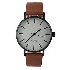 Mulheres Relógio de Moda Quartzo Relógio Casual PU Banda Pendente Marrom Castanho Escuro
