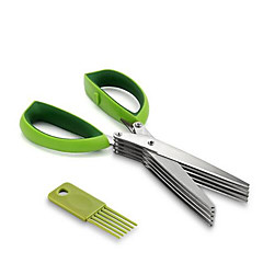 Germany Green Onion Cut Herbs Parsley Chopped Vegetable Baby Food Supplement Scissors Multilayer Steel Kitchen Scissors
