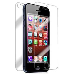 iPhone 5/5Sのための[4個パック]フロントとバック網膜スクリーンプロテクター