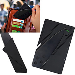 Novelty Portable Credit Card Knife Kitchen Cutlery Mini Folding Stainless Steel Knife Wallet Camping Outdoor Pocket Tool