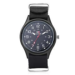 Мужской Модные часы Кварцевый Повседневные часы Материал Группа Черный / Зеленый
