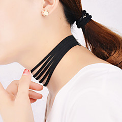 Halsband Choker-Halsband / Layered Halsband Smycken Party / Dagligen / Casual Mode / Vintage Flanell Svart 1st Present