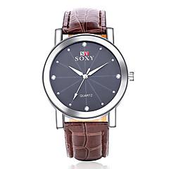 Hombre Reloj de Moda Cuarzo Reloj Casual Piel Banda Negro / Marrón