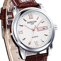 orologio vestito quarzo della lega di personalità della moda maschile (colori assortiti)