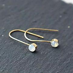 Øreringe Geometric Shape Smykker 1 par Mode Daglig / Afslappet Sølv / Guldbelagt Dame Gylden / Sølv