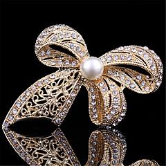 broches de perlas de oro del bowknot de la manera de la vendimia para las mujeres