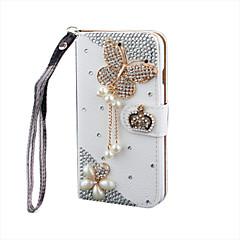 luksus bling krystal&diamant læder flip taske til samsunggalaxygalaxys2 / s3 / s4 / S5 / S6 / s6e / s7 / s6e plus (assorterede