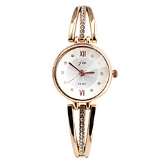 Women's Fashion Watch Bracelet Watch Simulated Diamond Watch Casual Watch Imitation Diamond Quartz Alloy Band Elegant Silver Gold