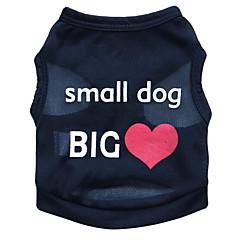 Koty / Psy T-shirt Niebieski / Black / Różowy Ubrania dla psów Lato Kwiatowy/roślinny Modny