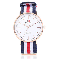 SOXY® Men Luxury Brand Rose Gold  Watches  Nylon Strap 40 mm Men Wristwatches Fashion Quartz Watch Relogio Masculino
