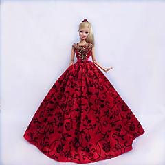 Princess Dresses For Barbie Doll Red / Black Dresses