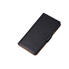 Na Samsung Galaxy Etui Etui na karty / Flip Kılıf Futerał Kılıf Jeden kolor Skóra naturalna na SamsungS7 edge / S7 / S6 edge plus / S6