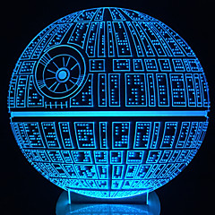 Awakens ! Multi-Colored Death Star Table Lamp 3D Death Star Bulbing Light