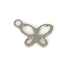 Beadia (50Pcs) 11x8mm Butterfly Shape Stainless Steel Charm Pendant For Necklace & Bracelet Jewelry Making