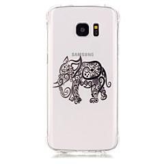 Varten Samsung Galaxy S7 Edge Iskunkestävä / Pinnoitus / Läpinäkyvä Etui Takakuori Etui Elefantti Pehmeä TPU SamsungS7 edge / S7 / S6 /