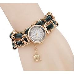 Damen Modeuhr Armband-Uhr Simultan? Diamant Uhr Quartz Armbanduhren für den Alltag Legierung Band Cool Schwarz Weiß Rot Grün Rosa Gelb