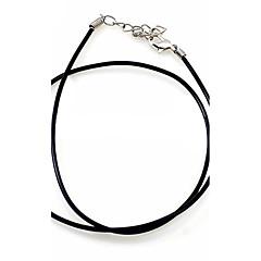 Naszyjniki z wisiorkami Łańcuszki na szyję Oświadczenie Naszyjniki Skórzany Nylon Modny Oświadczenie Biżuteria Europejski Black Biżuteria