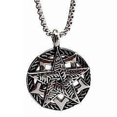 iconos del punk de la personalidad, de titanio de acero colgante de collar de plata de cinco puntas (con exclusión de la cadena)