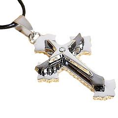 십자가의 칼 티타늄 남성 316리터 스테인레스 스틸 펜던트 목걸이