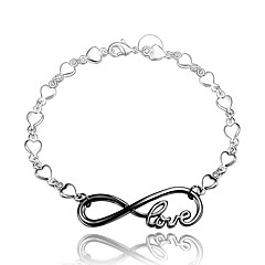 """2016 Inifinity 925 Sterling Silver """"LOVE"""" Black Luxury Specially Bracelets For Women"""
