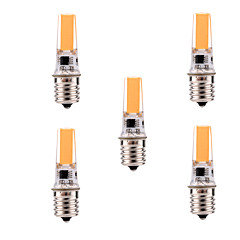 5W E17 Sporlamper T 1 COB 400-500 lm Varm hvit / Kjølig hvit Dimbar / Dekorativ AC 110-130 V 5 stk.