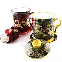tasse Thé Cadeau Mug avec Mélangeur Automatique Thé Kung Fu,Céramique