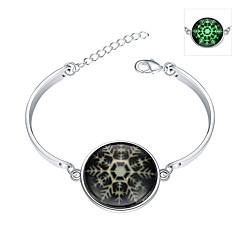 Dames Bedelarmbanden Bangles Armband Modieus Verlicht Europees Verzilverd Legering Sneeuwvlok Sieraden Voor Feest Speciale gelegenheden