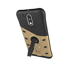 Για Θήκη Motorola Ανθεκτική σε πτώσεις / με βάση στήριξης tok Πίσω Κάλυμμα tok Πανοπλία Σκληρή PC Motorola Moto G4 Play / Moto Z