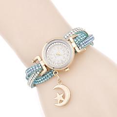 Women's Fashion Watch Bracelet Watch / Quartz PU Band Casual Elegant Black White Red Pink Bronze