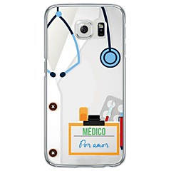 Mert Samsung Galaxy S7 Edge Ultra-vékeny / Áttetsző Case Hátlap Case Other Puha TPU SamsungS7 edge / S7 / S6 edge plus / S6 edge / S6 /